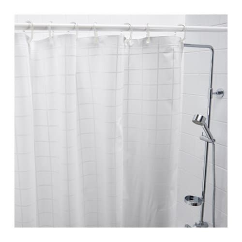 GR NSKA Shower Curtain White 180x180 Cm IKEA