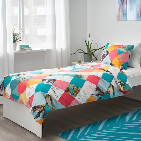 GRACIÖS quilt cover and pillowcase harlequin pattern 200 cm 150 cm 50 cm 80 cm