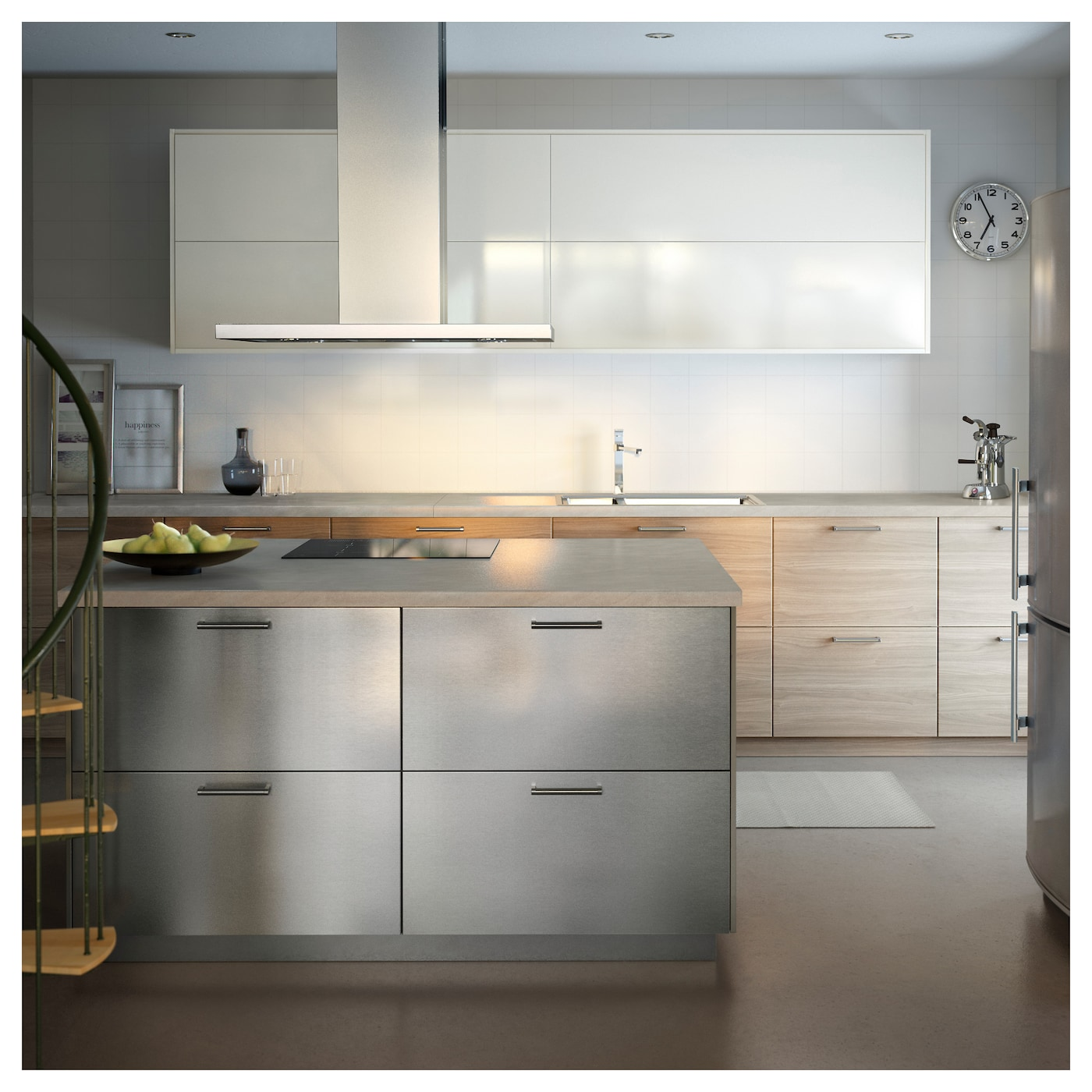 Ikea Kitchen Showroom: GREVSTA Door Stainless Steel 40 X 80 Cm