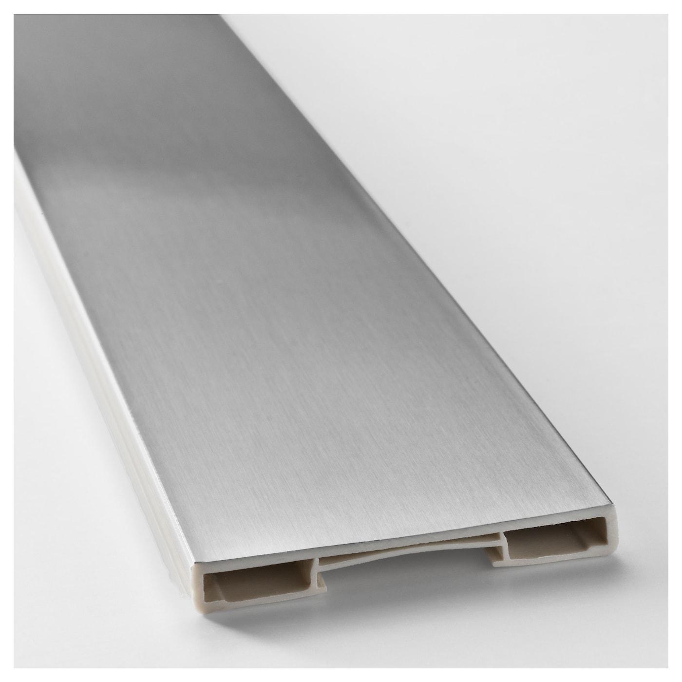 grevsta plinth stainless steel colour 220x8 cm ikea. Black Bedroom Furniture Sets. Home Design Ideas