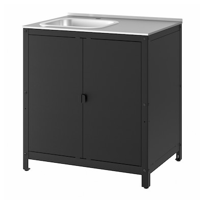 GRILLSKÄR Kitchen sink unit/cabinet, outdoor, stainless steel, 86x61 cm
