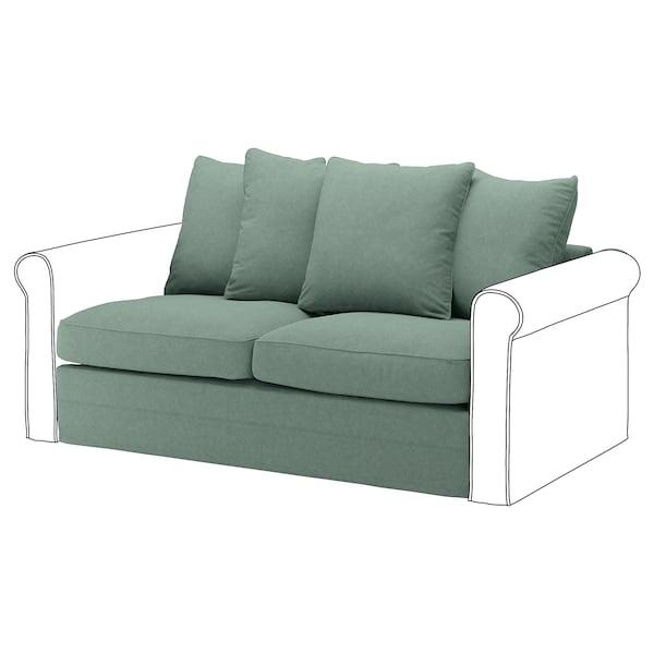 GRÖNLID 2-seat sofa-bed section, Tallmyra light green