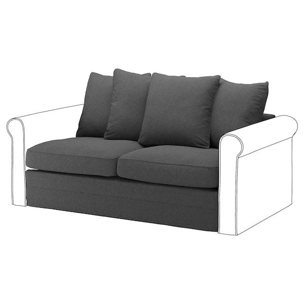 GRÖNLID 2-seat sofa-bed section, Tallmyra medium grey