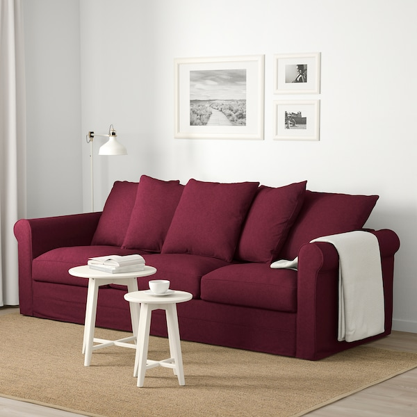 Brilliant 3 Seat Sofa Gronlid Tallmyra Dark Red Gmtry Best Dining Table And Chair Ideas Images Gmtryco