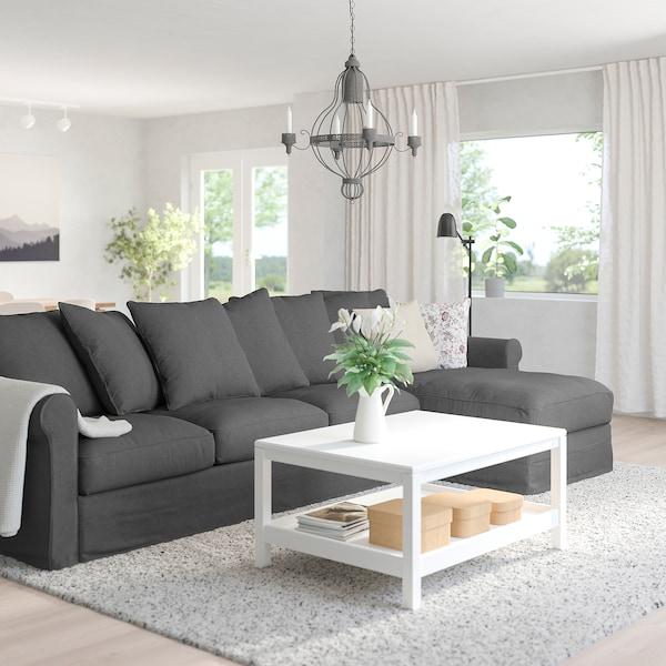 GRÖNLID 4-seat sofa, with chaise longue/Tallmyra medium grey