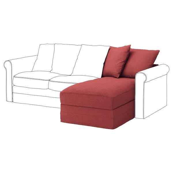 GRÖNLID Chaise longue section, Tallmyra light red