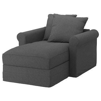 GRÖNLID Chaise longue, Tallmyra medium grey