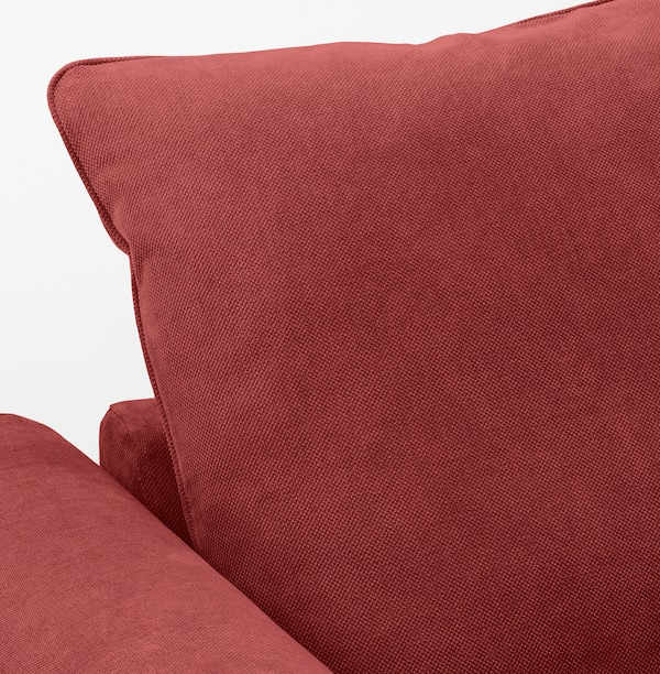 GRÖNLID Corner sofa, 3-seat, with open end/Tallmyra light red