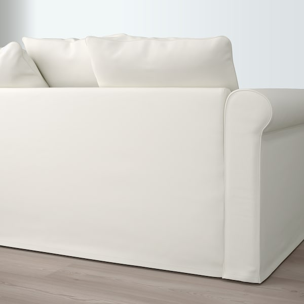GRÖNLID Corner sofa, 5-seat, Inseros white