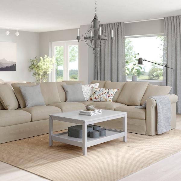 GRÖNLID Corner sofa, 5-seat, Sporda natural