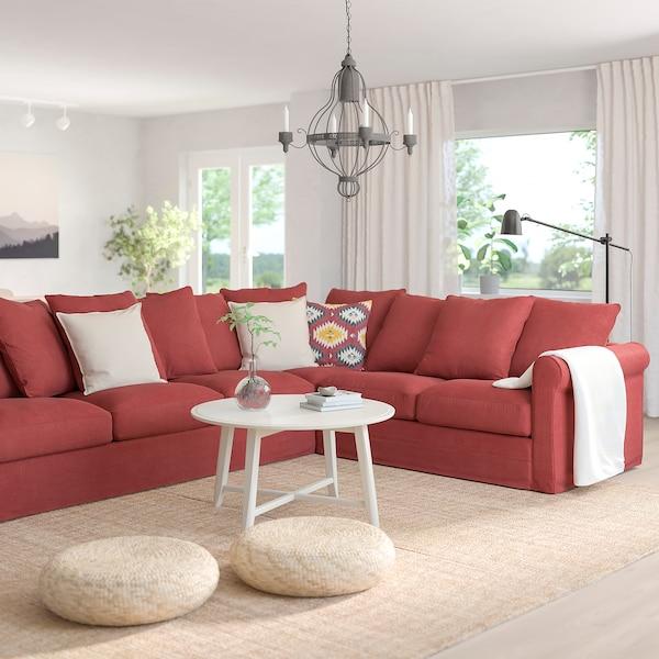 GRÖNLID Corner sofa, 5-seat, Tallmyra light red