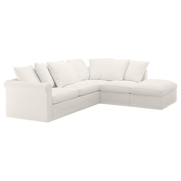 Inseros White Corner Sofa Bed 4 Seat