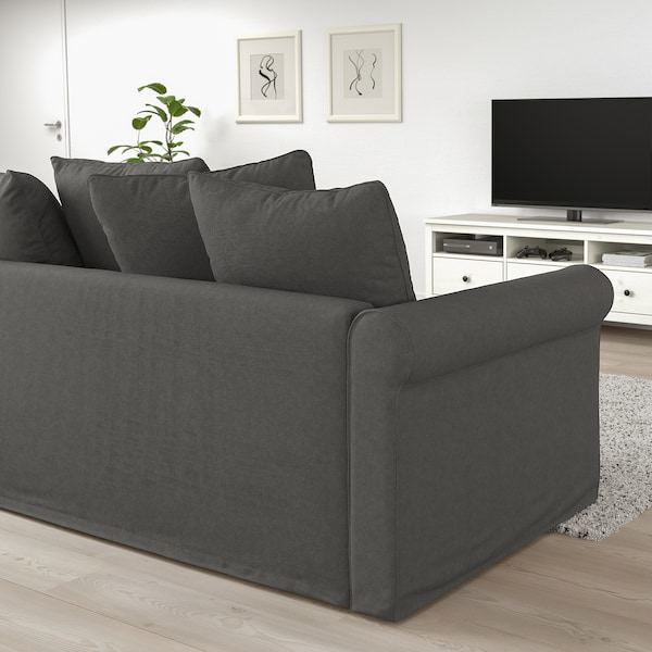 Surprising Corner Sofa Bed 4 Seat Gronlid With Open End Tallmyra Medium Grey Pabps2019 Chair Design Images Pabps2019Com
