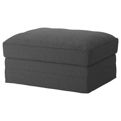 GRÖNLID Footstool with storage, Tallmyra medium grey
