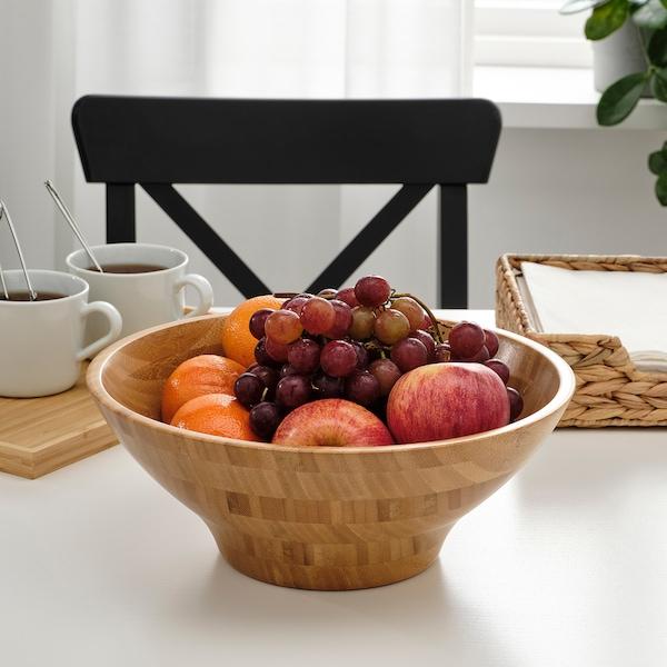GRÖNSAKER Serving bowl, bamboo, 28 cm