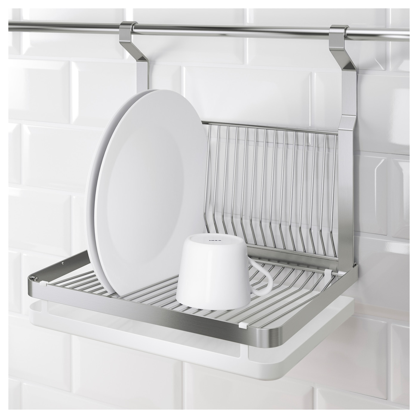 Grundtal dish drainer stainless steel 35x26 cm ikea for Egouttoir mural