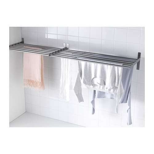 grundtal drying rack wall stainless steel 67 120 cm ikea. Black Bedroom Furniture Sets. Home Design Ideas