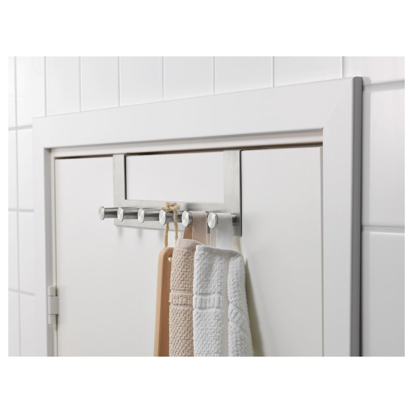 grundtal hanger for door stainless steel ikea. Black Bedroom Furniture Sets. Home Design Ideas