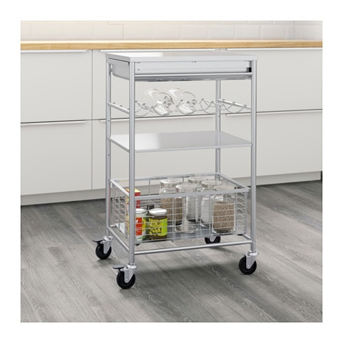 IKEA GRUNDTAL kitchen trolley Gives you extra storage in your kitchen.  sc 1 st  Ikea & GRUNDTAL Kitchen trolley Stainless steel 54 x 41 x 90 cm - IKEA