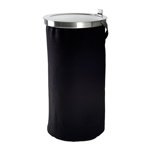 GRUNDTAL Laundry bin IKEA The laundry bag does not absorb moisture or odours from the laundry because it is made of polyester.