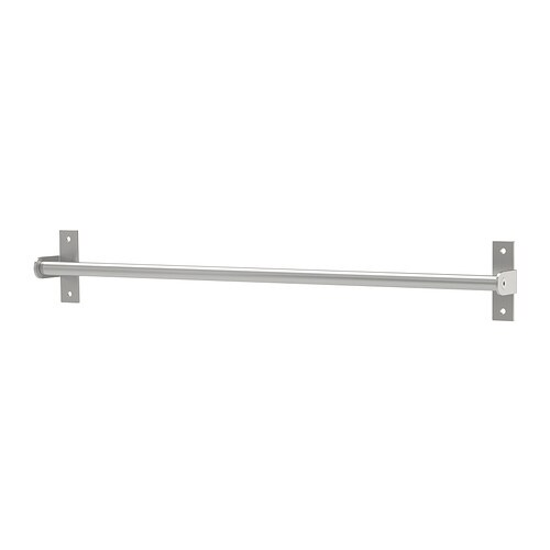 IKEA GRUNDTAL rail Saves space on the worktop. Can also be used as a towel rail or a pot lid rack.