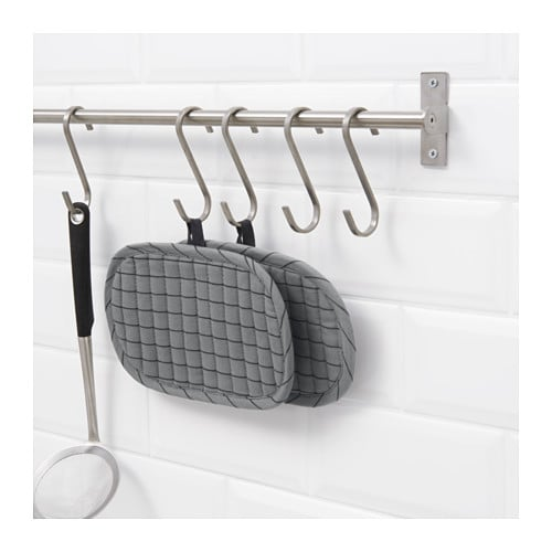 IKEA GRUNDTAL s-hook May also be used in high humidity areas.