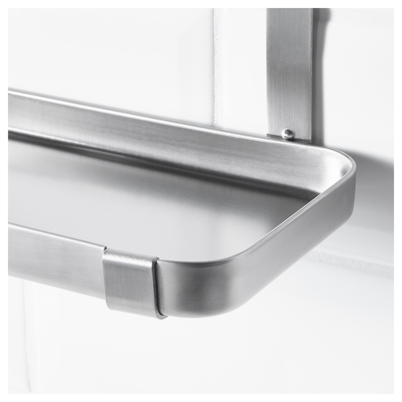 GRUNDTAL Shelf Stainless steel 25×12 5×20 cm IKEA