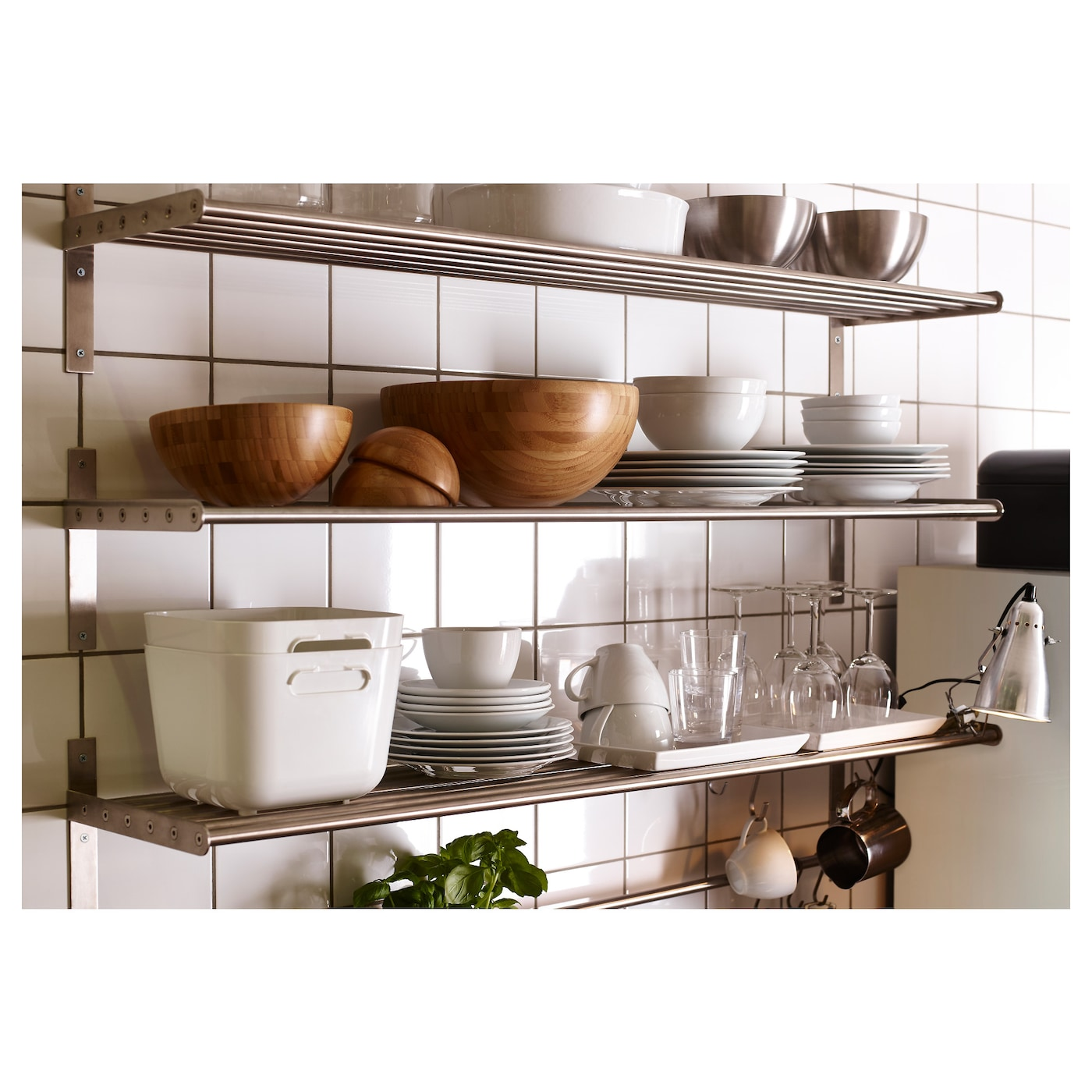 grundtal wall shelf stainless steel 120 cm ikea. Black Bedroom Furniture Sets. Home Design Ideas