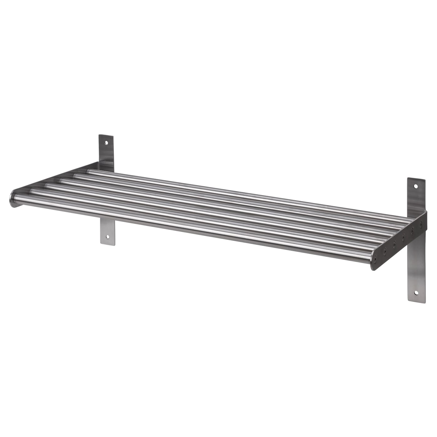 grundtal wall shelf stainless steel 60 cm ikea. Black Bedroom Furniture Sets. Home Design Ideas