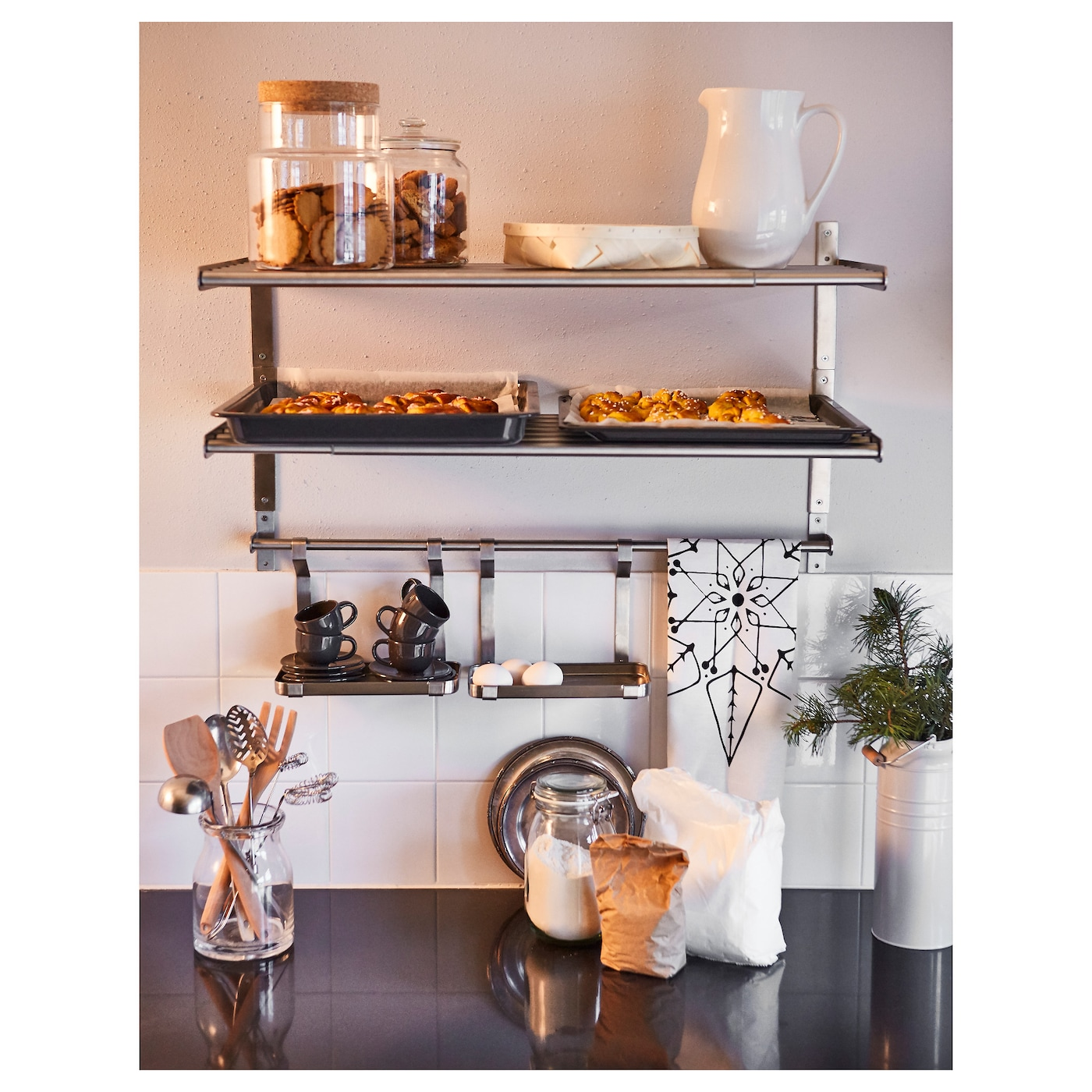 Shelves For Kitchen Wall: GRUNDTAL Wall Shelf Stainless Steel 80 Cm