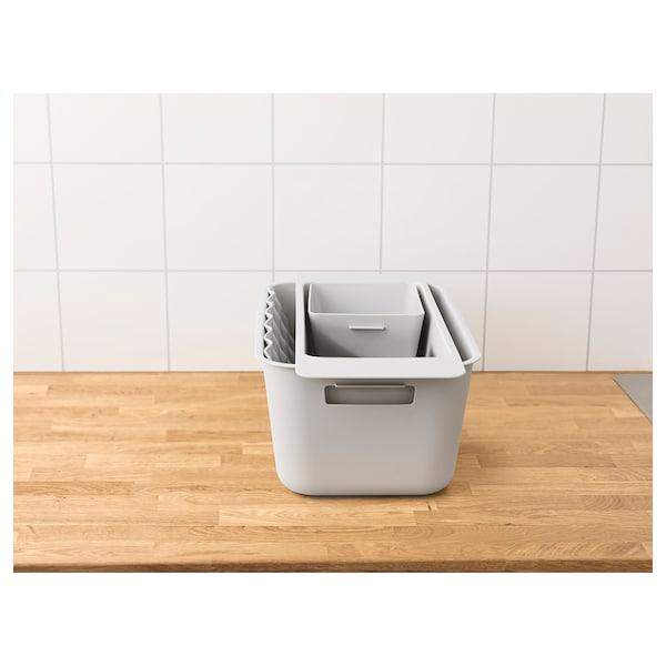 GRUNDVATTNET Mat, grey, 26x32 cm