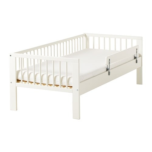 IKEA GULLIVER bed frame with slatted bed base Solid wood, a hard-wearing natural material.