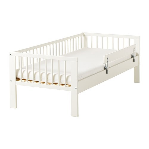 GULLIVER Bed frame with slatted bed base , white Length: 165 cm Head/footboard height: 57 cm Free height under furniture: 22 cm Width: 76 cm Mattress length: 160 cm Mattress width: 70 cm