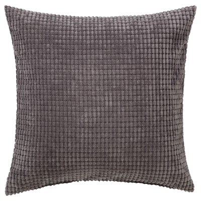 GULLKLOCKA Cushion cover, grey, 50x50 cm