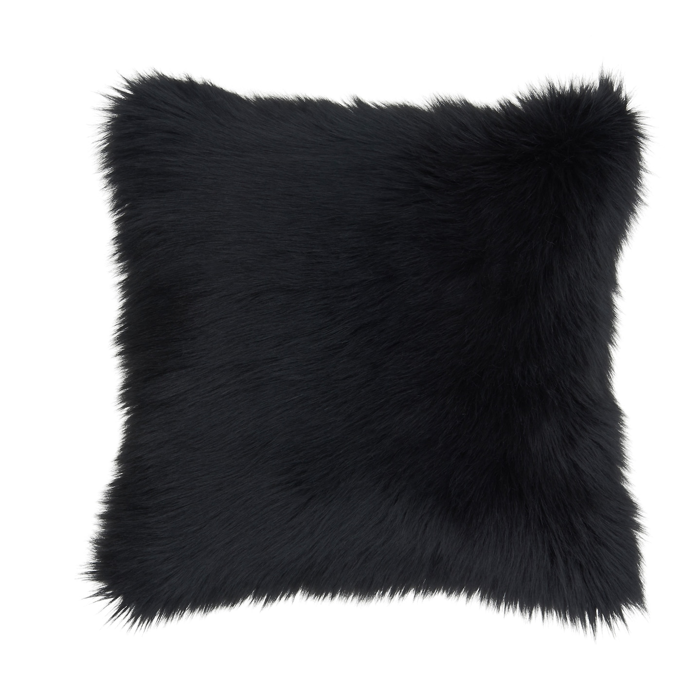 Gullviva cushion cover black faux fur 50x50 cm ikea for Housses de coussin 60x60