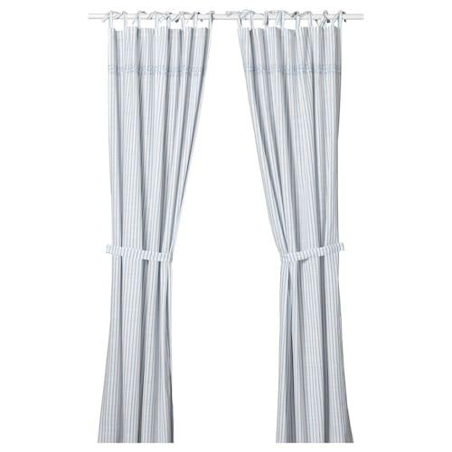 IKEA GULSPARV Curtains with tie-backs, 1 pair