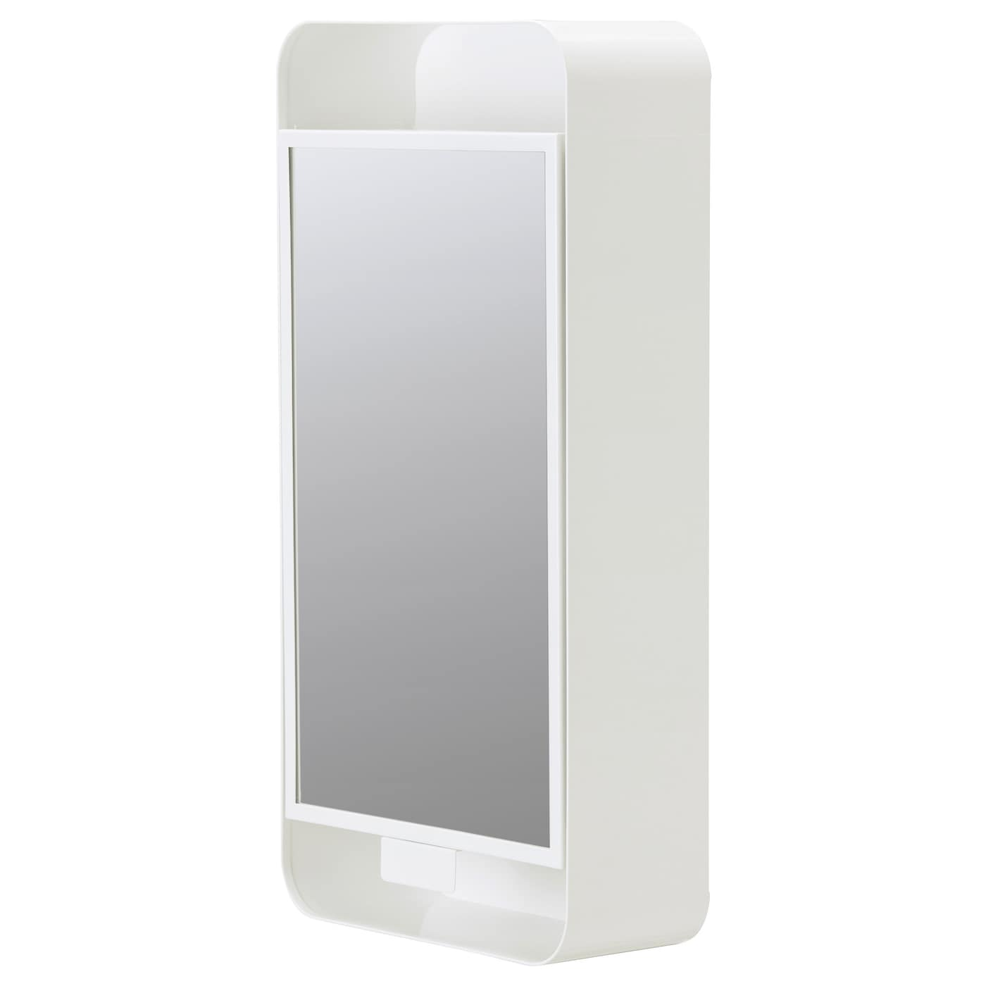 IKEA GUNNERN mirror cabinet with 1 door Shelves with raised edging for safe storage.