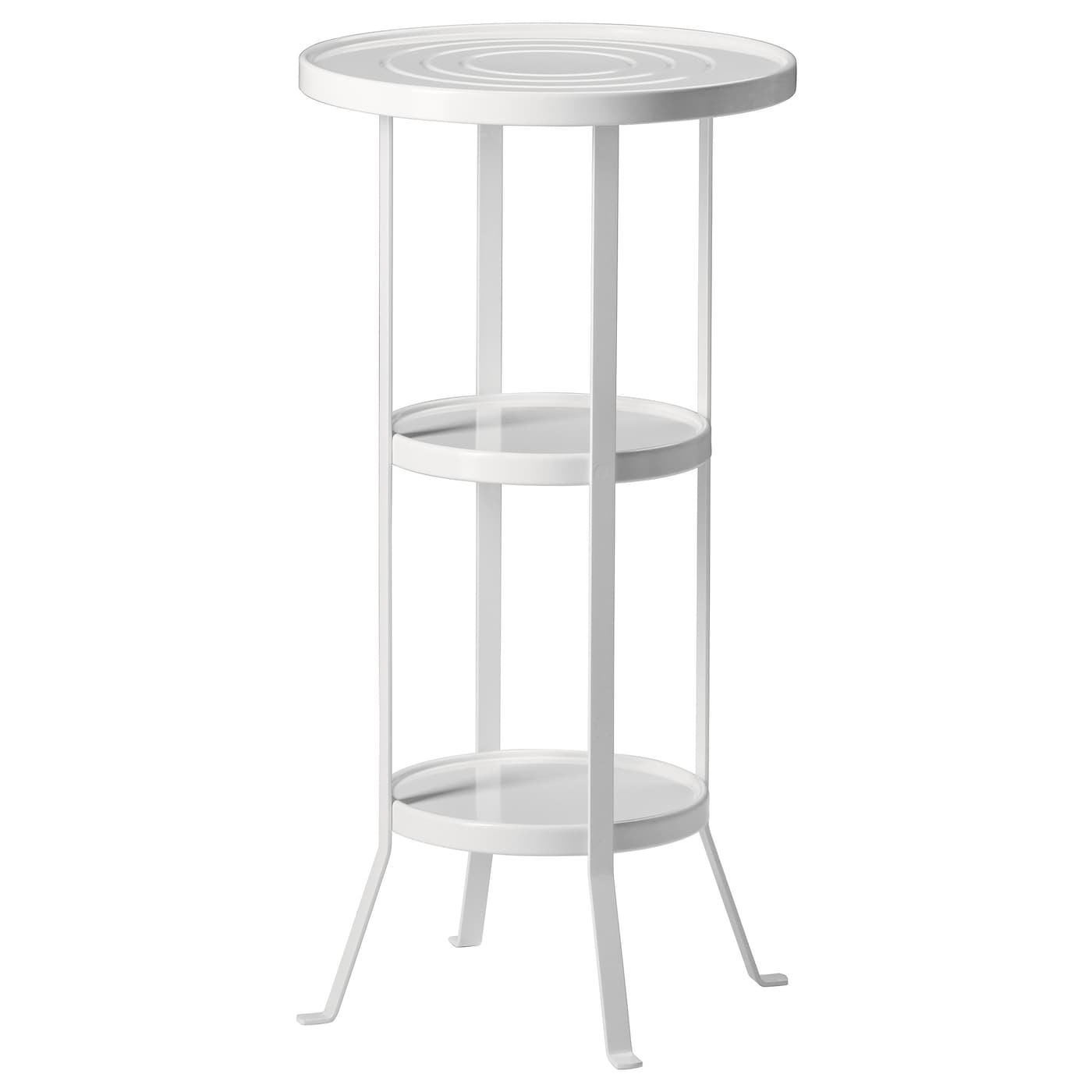gunnern pedestal table white 38 cm ikea