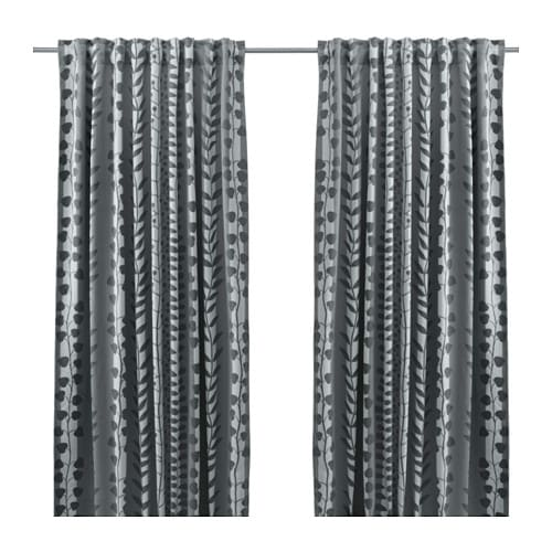 IKEA GUNNI Block Out Curtains, 1 Pair The Curtains Can Be Used On A