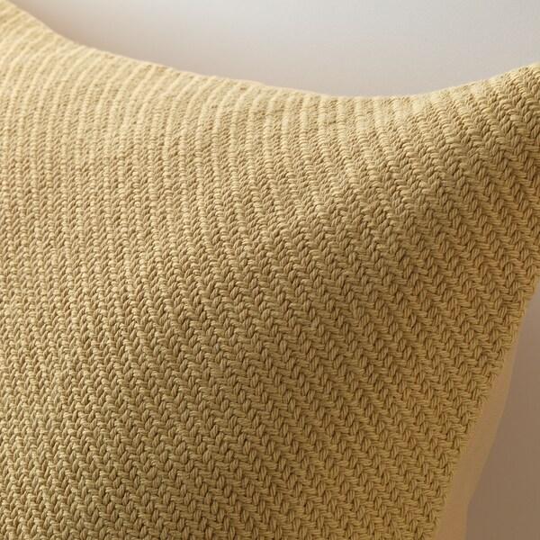 GUNVA Cushion cover, yellow, 50x50 cm