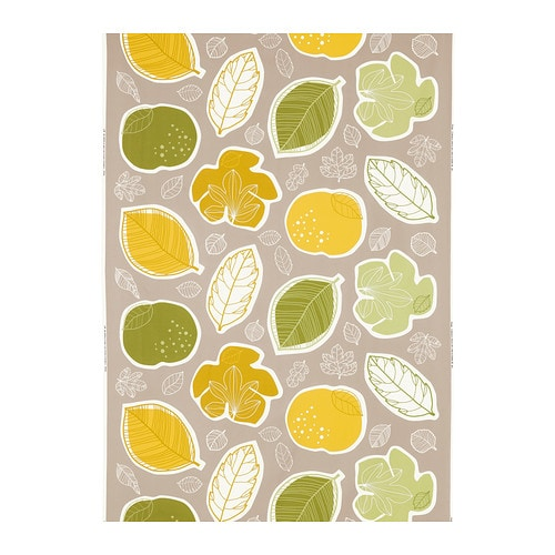 GURINE Fabric IKEA You can cut out the printed fruit and leaves and use them as decorative patches on your handbags, cushions or clothes.