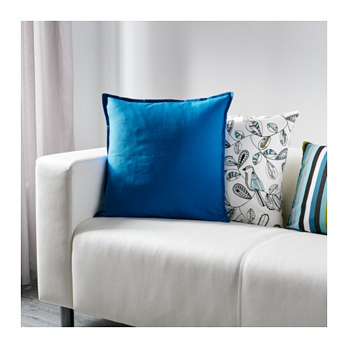 gurli cushion cover blue 50x50 cm ikea. Black Bedroom Furniture Sets. Home Design Ideas