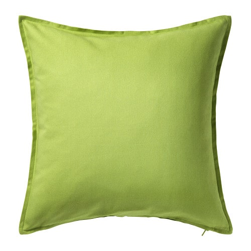 IKEA GURLI cushion cover The zipper makes the cover easy to remove.
