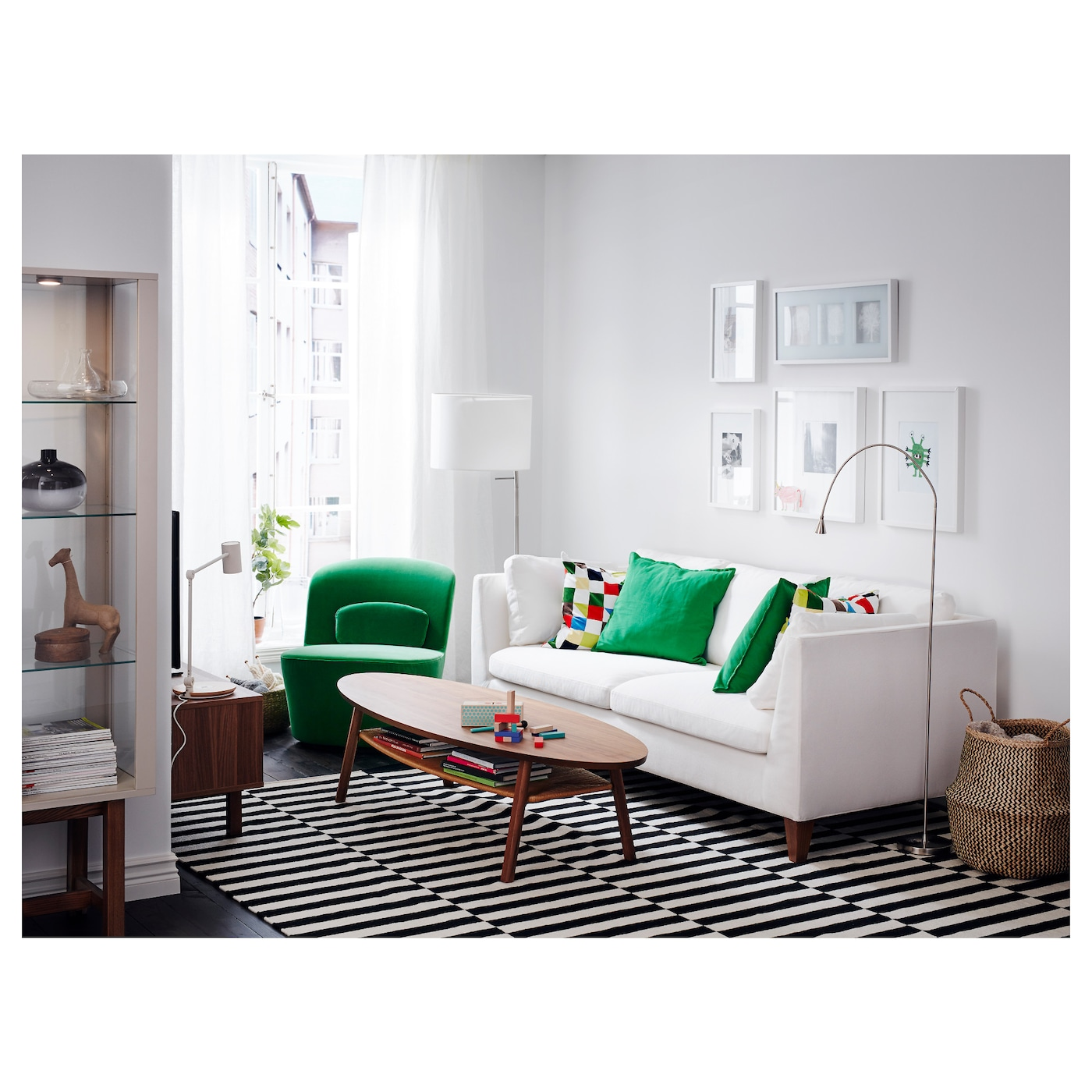 gurli cushion cover medium green 50x50 cm ikea. Black Bedroom Furniture Sets. Home Design Ideas