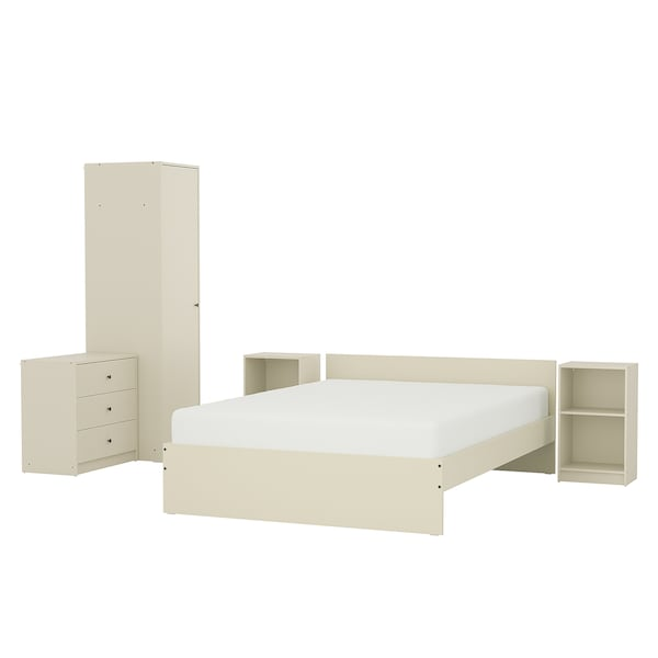 GURSKEN Bedroom furniture, set of 15 - light beige - IKEA