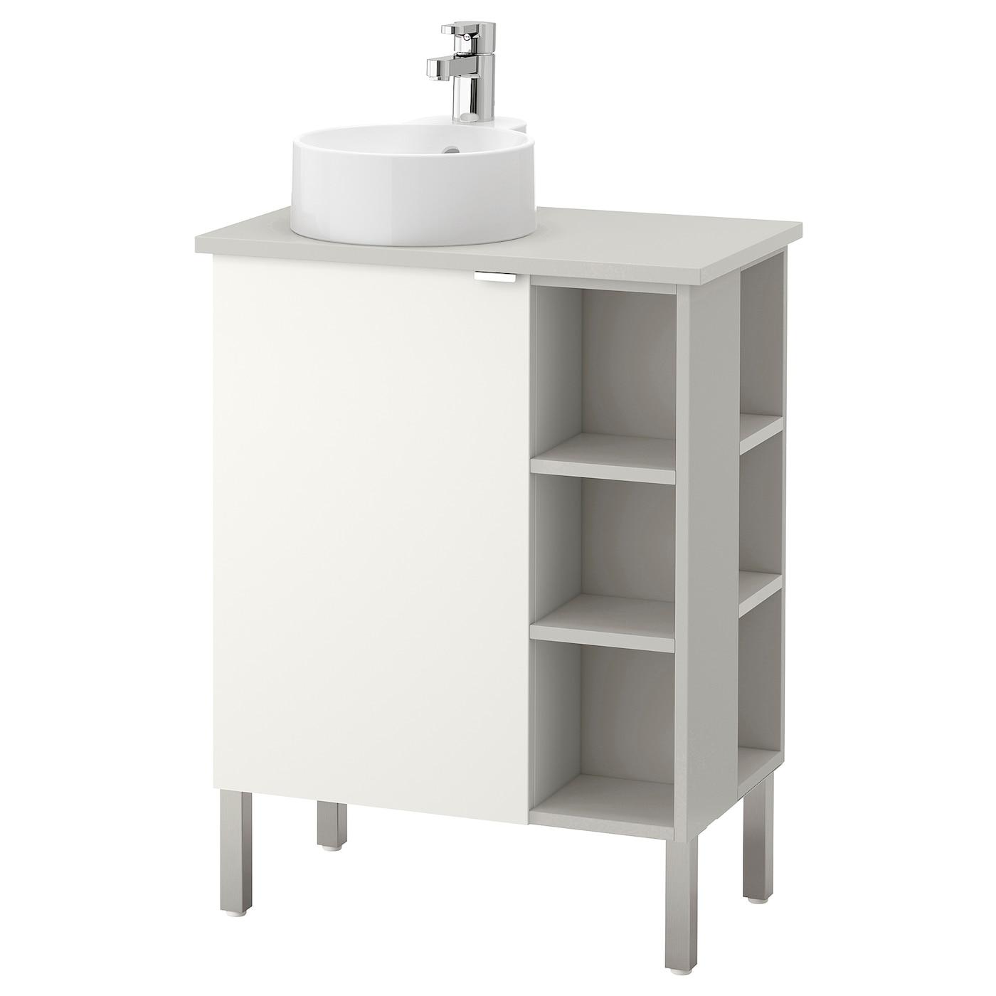 Bathroom sink units ikea - Ikea Gutviken Lill Ngen Viskan Washbasin Cab 1 Door 2 End Units