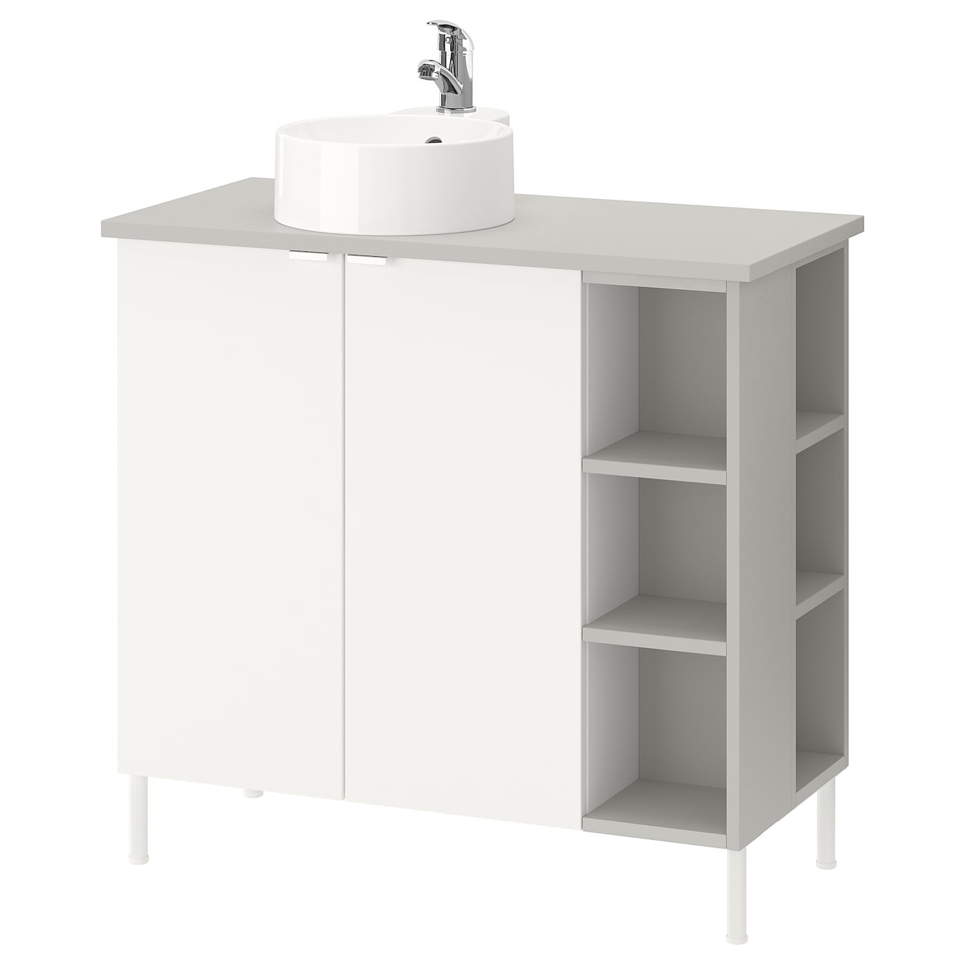 IKEA GUTVIKEN/LILLÅNGEN/VISKAN washbasin cab 2 doors/2 end units