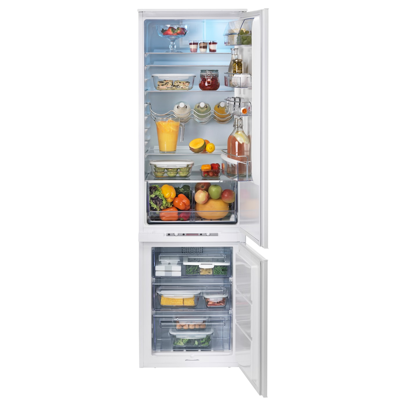 IKEA HÄFTIGT integrated fridge/freezer A+