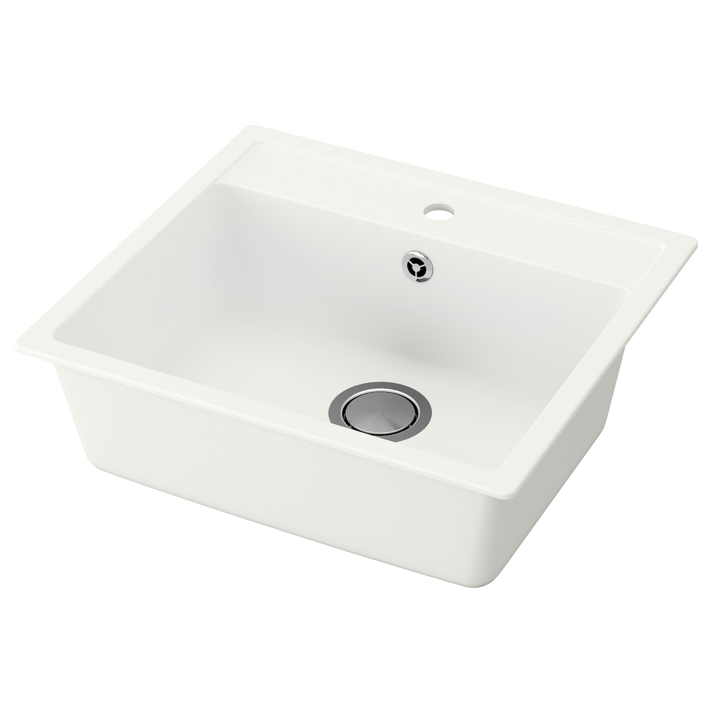 IKEA HÄLLVIKEN inset sink, 1 bowl 25 year guarantee. Read about the terms in the guarantee brochure.