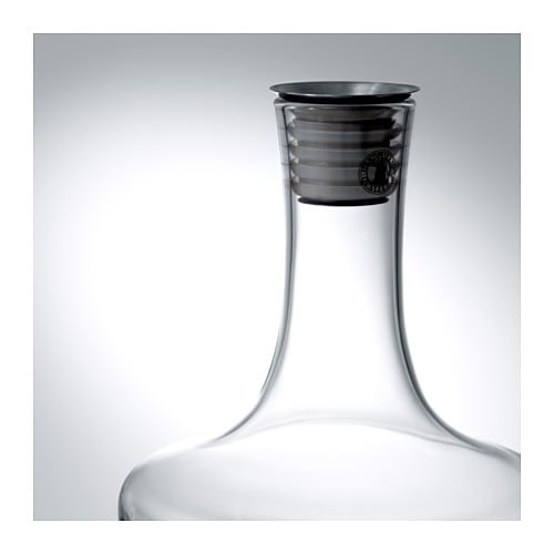 IKEA HÄMTA carafe Drip-free spout which makes it easier to pour without spilling.
